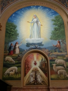 A mural of Our Lady of Fatima in the Co-Cathedral of St. Joseph in Prospect Heights, Brooklyn, on Jan. 1, 2015.