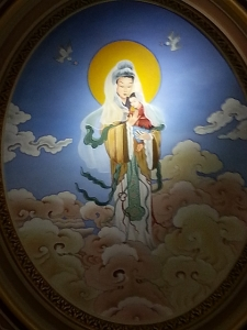 A ceiling painting of Our Lady of China in the Co-Cathedral of St. Joseph in Prospect Heights, Brooklyn, on Jan. 1, 2015.