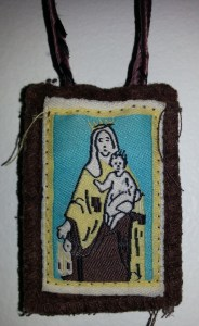 Father Greg Staab, OMV imposed this scapular on me during Holy Week 2014. Mary has stayed close to me ever since.