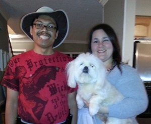 From left: me, Gus and Kathryn at Kathryn's house in Knoxville.