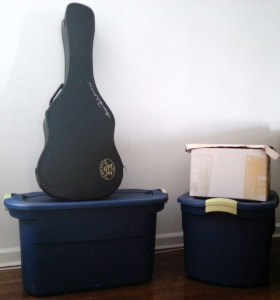 Finally, my storage boxes and guitar are back in my family's place for safekeeping.