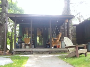 This cabin  near Phoenicia, NY looks inviting to relax and chill the summer away.