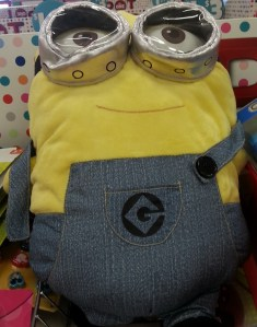 See one? Expect many more. A stuffed Minion at Target in Queens Center on July 24, 2015.