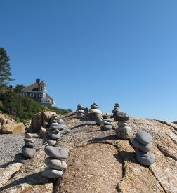What do you with a bunch of rocks on a beach? Stack them.