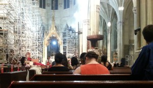 Holy Hour before the Young Adult Mass at St. Patrick's Cathedral on Aug. 5.