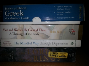 Here are some of my reading in September 2015: Greek vocabulary cards, John Paul II's