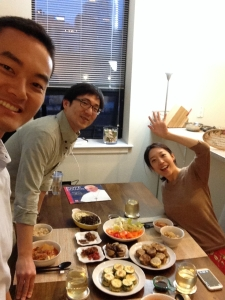Jeremy Lee has dinner with Monica Hyun and Jacob Huh in Philadelphia on Saturday, Sept. 26, 2015.  (Photo courtesy of Jeremy Lee)