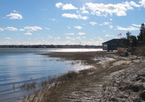 A view of Kingston Bay from Landing Road in Duxbury, Mass., on Wednesday, Jan. 13, 2016.