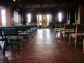 The main chapel at the Miramar Retreat Center in Duxbury, Mass.