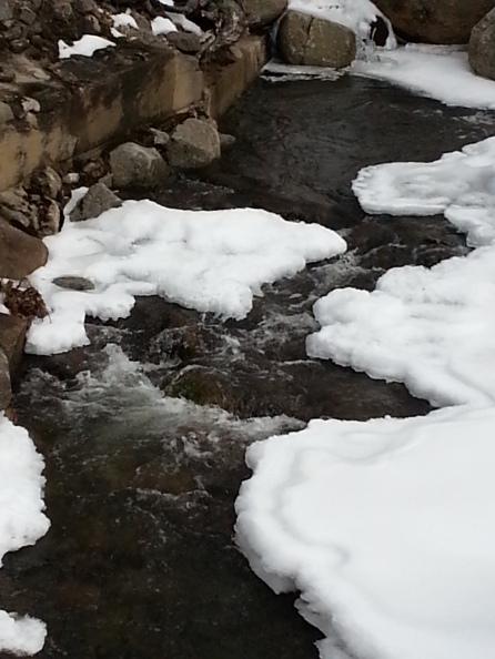 A flowing mountain stream outside Jackson, N.H., on March 9, 2016.