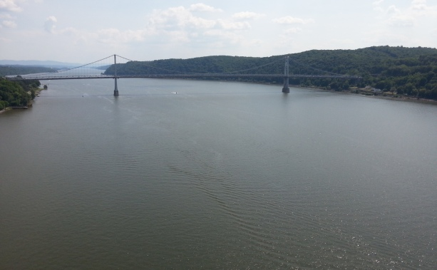 The Hudson River from the south side of Walkway over the Hudson in Poughkeepsie, N.Y., on Sunday, June 26, 2016. The 1936 University of Washington varsity rowing team glided underneath the Mid-Hudson Bridge toward winning the national championship.