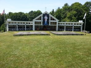 The Mother of Mercy Outdoor Shrine is the site of the giant Divine Mercy Sunday Mass in Stockbridge, Mass.