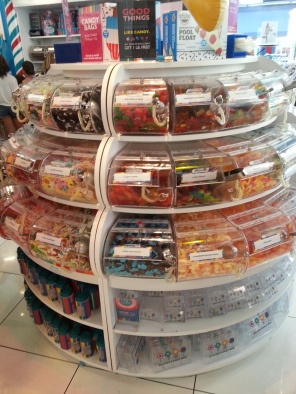 Oh, it looks so tempting to take just one piece. The bulk candy greets visitors upon entry into Dylan's Candy Bar in New York on Friday, July 22, 2016.