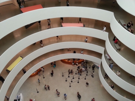 I could look down the spiral floors of the Guggenheim rotunda for hours on end.