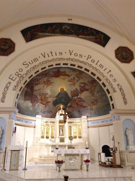 The altar in the main church of St. Rose of Lima in Rockaway Beach, N.Y.