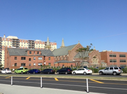 St. Rose of Lima in Rockaway Beach, N.Y., with the rectory to the left.