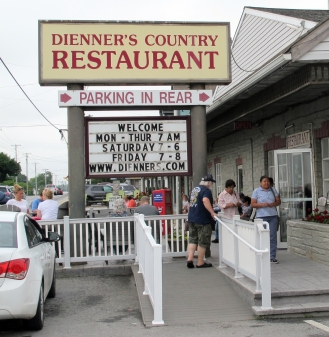 We had a nice lunch buffet at Dienner's Country Restaurant in Lancaster County, Penn., on Saturday, June 23, 2018.
