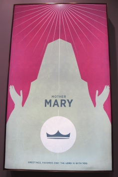 I found this poster of Mary. It makes me wonder if anyone knows the person in the silhouette.