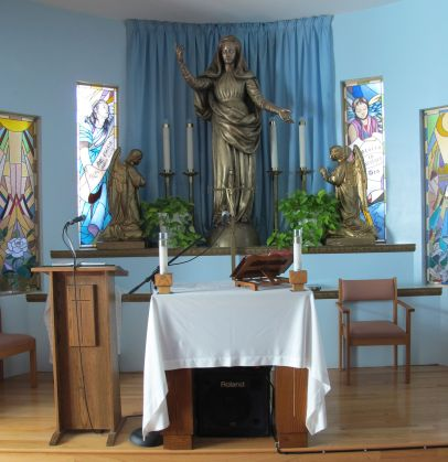 I did my meditation at the Madonna, Queen of the Universe chapel.