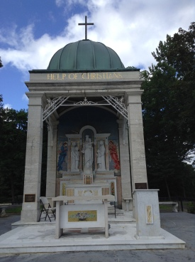 The Marian Shrine in Stony Point, NY is the National Shrine of Mary, Help of Christians. It has a beautiful outdoor altar.