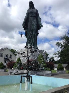 The Marian Shrine in Stony Point, NY has a statute of the Rosary Madonna at 48 feet tall.