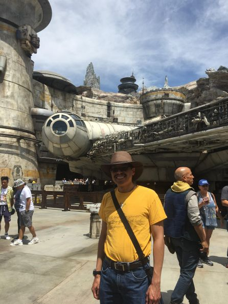 So that's how big the Millennium Falcon is?