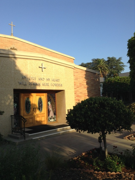 The words on the chapel at the Sacred Heart Retreat Center in Alhambra, Calif. spoke a sublime truth.